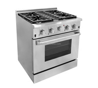30 inch stainless steel free standing gas oven range/4 burner gas range with oven