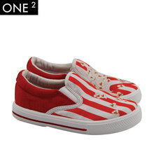 Wholesale price OEM design 3D printing kid canvas girl casual shoe