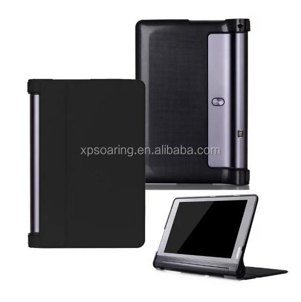Triple folding leather case for Lenovo Yoga Tab 3 Plus