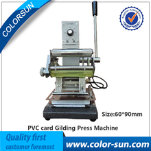 2017 Latest Design Hot Stamping Bronzing Machine for PVC Smart Card on hot selling