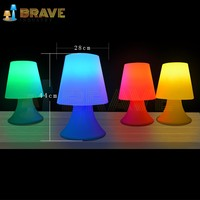 Home decoration children's plastic table study white shell and internal installation RGB leds desk lamp