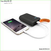 New model fashion mobile phone emergency battery charger outdoor waterproof power bank 9000mah