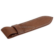 Hunting fishing camping custom embossed band leather knife sheath
