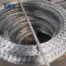 BTO-22 Military Concertina Razor Barbed Wire, razor barded wire mesh for hot sale
