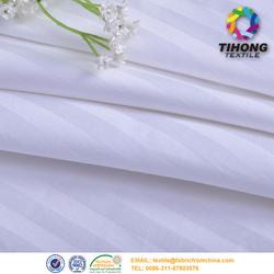 C40*40 140*110 star hotel satin stripe bedding fabric