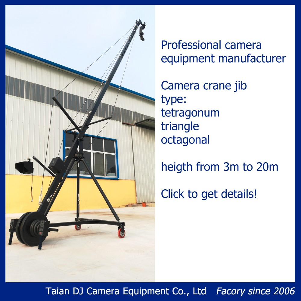 Remote head equilateral triangle cross section 8m jimmy jib camera crane for sale