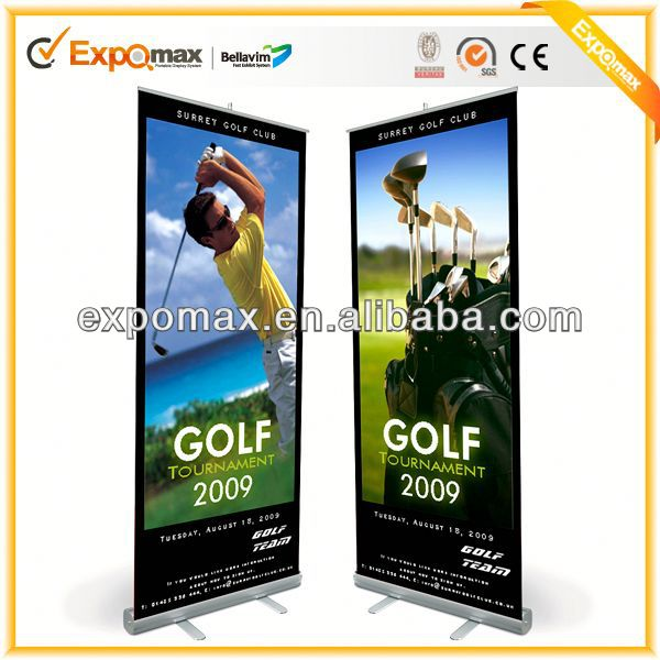85*200cm aluminum retractable banner stand electronic roll up display for advertising