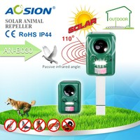 Aosion Outdoor Cat Dog Animal Pest Electronic Ultrasonic Repeller Solar Battery Powered - Motion Activated