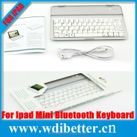 Mini Portable Thin Bluetooth Aluminum Alloy Tablet Case PC Wireless keyboard for iPad Mini 2