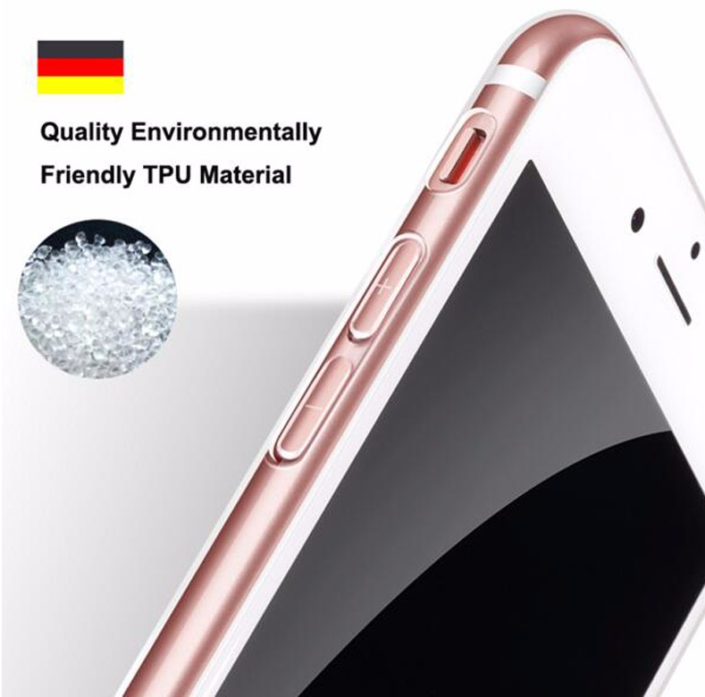 Transparent TPU Rubber Gel For iphone 7 plus Clear Phone Case for Apple 7 plus