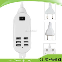 30W 5A 6 Port USB Portable Travel Wall Charger Power Adapter