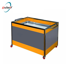 QH material promotional stand portable demo table with carry bag