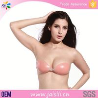 China gold supplier manufacturers in China Waterproof nude invisible big breast silicon boobs bra