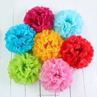 wholesale tissue paper pom poms artificial flower ball for wedding