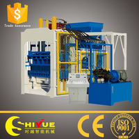 QT12-15 road curb machine/full automatic paver plant/automatic concrete brick machine