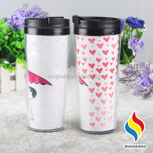 Wholesale double walled thermal plastic cups