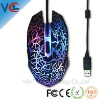 Seven color led light 6d optical wireless gaming mouse big hands
