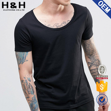 round neck t shirt big hole neck t shirt men hip hop t shirt