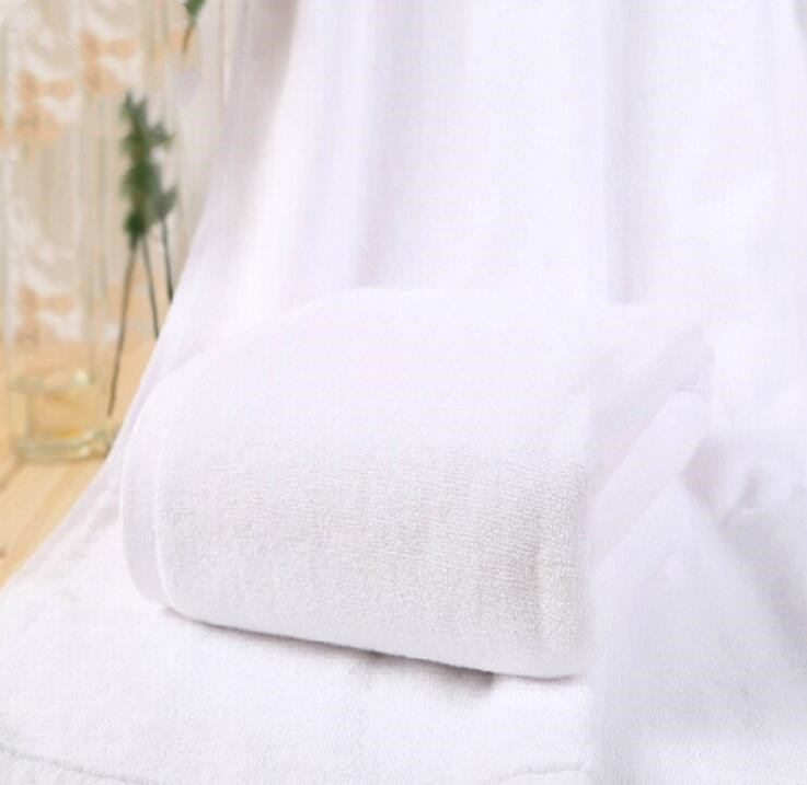 High Quality Luxury 100% <strong>Cotton</strong> 32s/2 White Hotel Bath Towel Set 70*140cm 400g/pcs