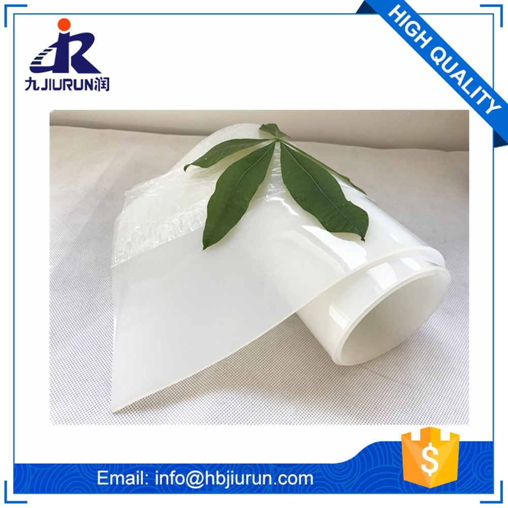 Super clear transparent thin silicone rubber sheet roll