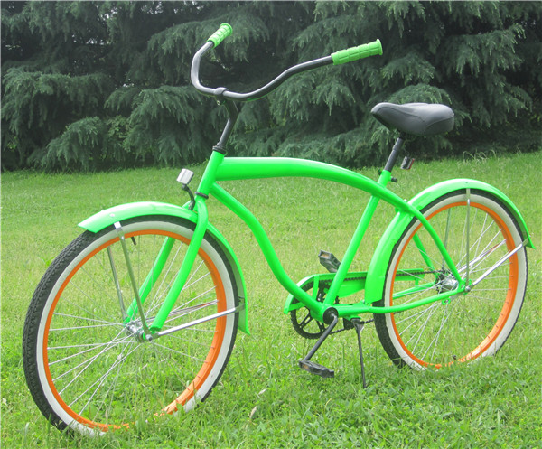 Wholesale Beach Cruiser Bike Tires Orange Bicycle For Sale