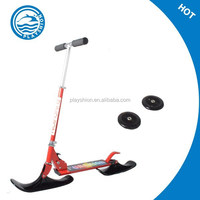 2 in 1 kick snow scooter /kids snowmobile /snowboard scooter