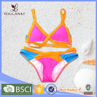 Low Price Pretty Pattern Young Lady Colorful women's swimwear