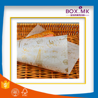 China Alibaba Free Sample Customized Decorate 4C Printing Greaseproof Wax Paper