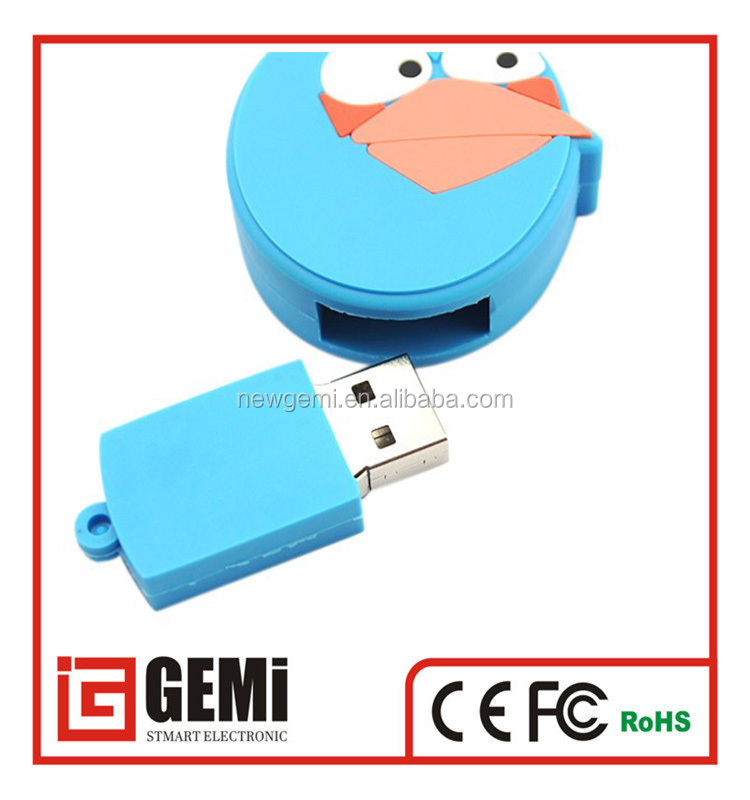 2016 novelty, Christmas promotional gift angry cartoon birds usb flash drive ,16gb usb 2.0