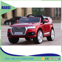 2016 newest licensed 12V Battery Power and Plastic Material audi ride on car for kids