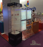 High quality plexiglass watch or display cabinet for jewelry with LED lamp ST-RC6-C-15
