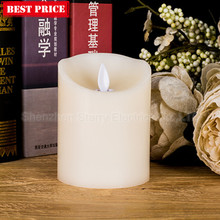 aaa battery flickering wax led candle light