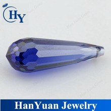 Loose cubic zirconia stone tear drop Tanzanite cz briolette