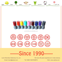 mini plastic QC stamps self inking flash foam stamp HIGH QUALITY