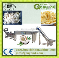 Coconut meat drying machine / dried coconut chips processing machine