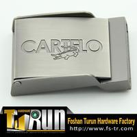 New classic custom chrome plain silver belt buckle
