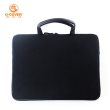 wholesale alibaba neoprene zipper case with rear pocket for accessories 12 inch