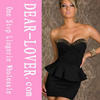 2014 Wholesale black elgant sexy womens dress mini dress