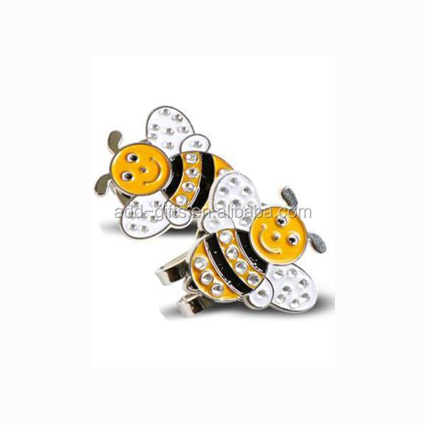 crystal bee golf hat clip, magnetic golf ball marker hat clip, hat clip for gifts