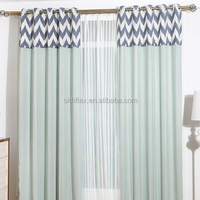 rustic window curtains design for living room home textile blackout curtain
