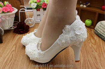 White wedding dress dresses high heels wholesale the new lace handmade bridal shoes spring/summer PU bridal shoes WS032