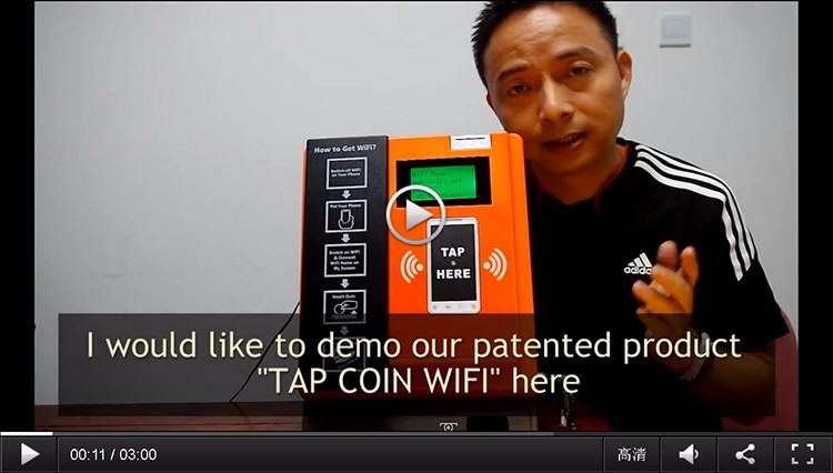 2020 New Ideas for Small Business Self Service Kiosk Tap Coin Operated Reverse WiFi Vending Machine