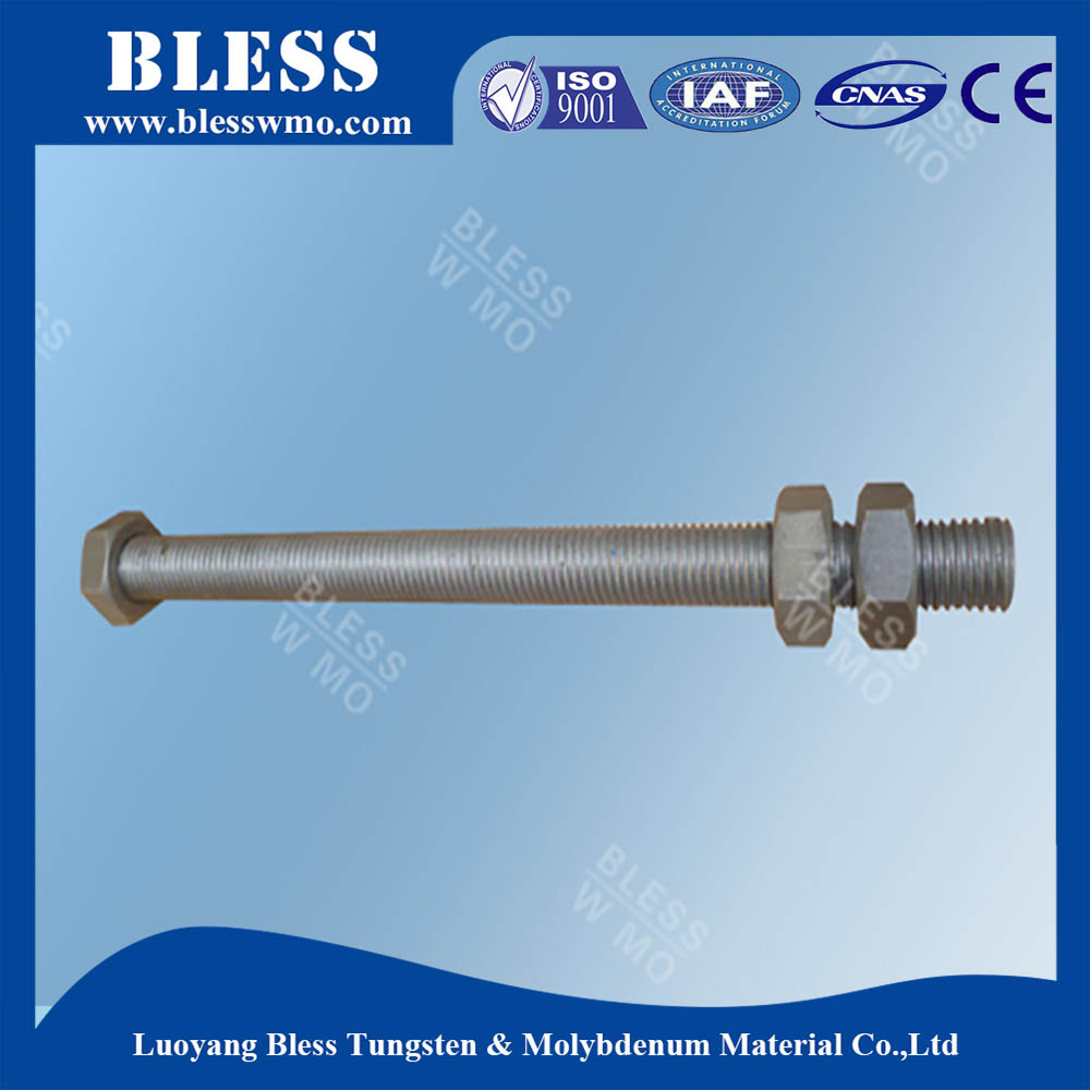 99.95%purity high temperature hexagonal bolt nut hex head bolt with Ce certificate