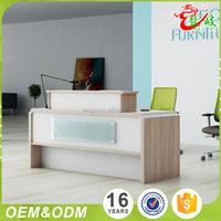 Wholesale 2017 latest design office furniture front table modern elegant office luxury reception desk