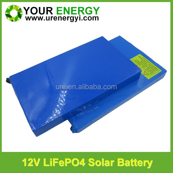 18650 lifepo4 battery pack 12v 40ah deep cycle recharge solar energy storage battery