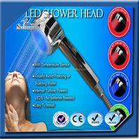 Hot-selling temperature detectable 3 colors led top shower head