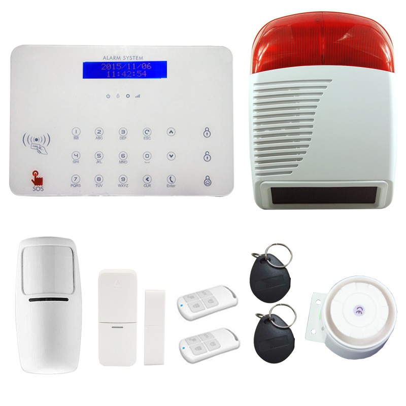 2016 outdoor wireless alarm siren with strobe light for gsm alarm system DP-K7