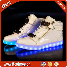 High Top LED Flashing Sneakers Simulation Boot Shoes with Lights Sole