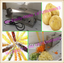 Electric automatic sweet potato spiral slicer/Potato twister machine/potato spiral cutter 0086 18703680693