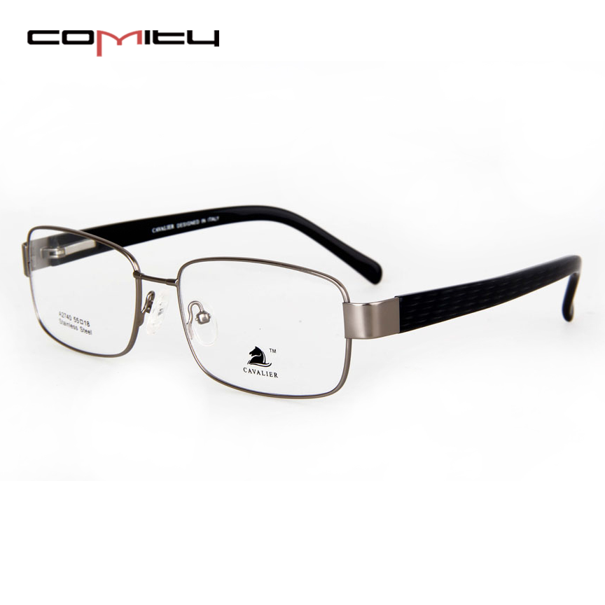 COMITY Affordable Price New Model Black Metal Optical Frame With Memory Material